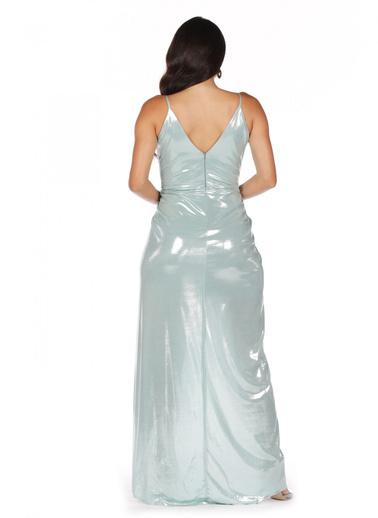 Pierre Cardin Askılı Anvelop Uzun Abiye Elbise Yeşil